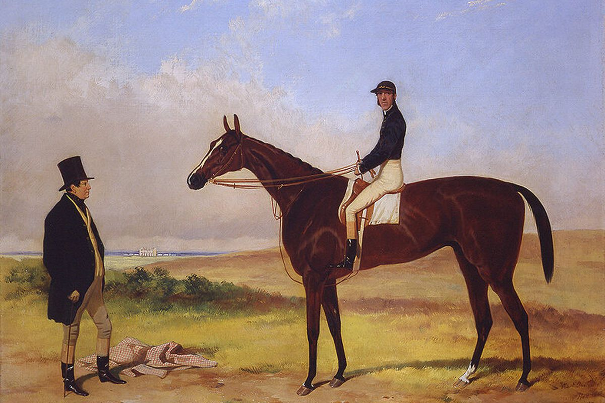 West Australian, the first winner of the English Triple Crown in 1853. (Photo: 1853 Painting by Harry Hall)