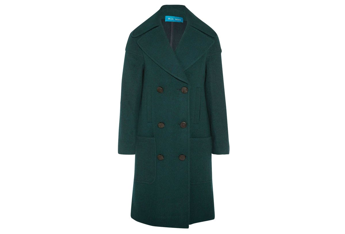 M.I.H. dark green wool coat