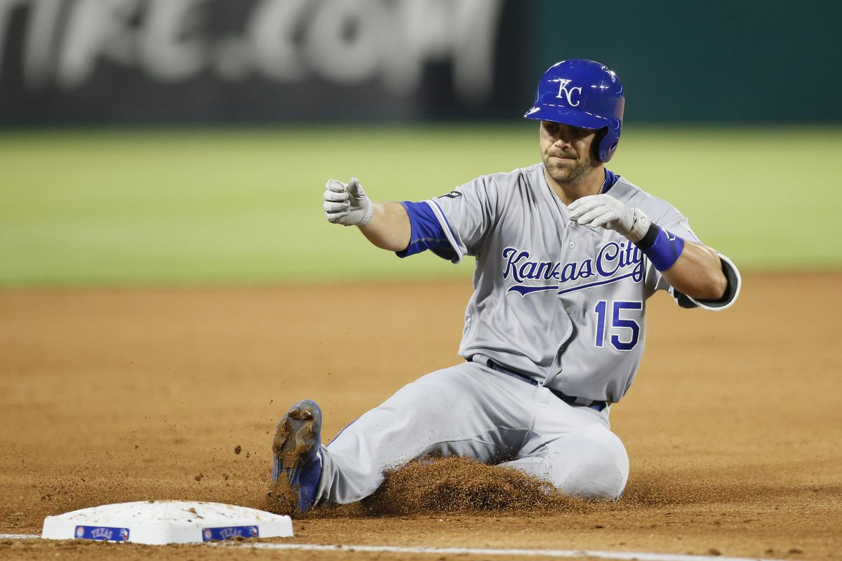 Whit Merrifield is sliding along with the Royals