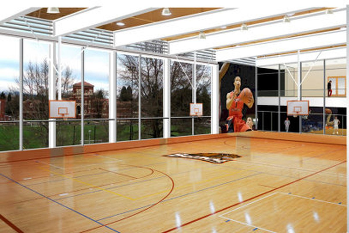 Oregon St.'s new basketball practice facility should look something like this architect's projection. Groundbreaking is June 21st, and completion is expected by the spring of 2013.