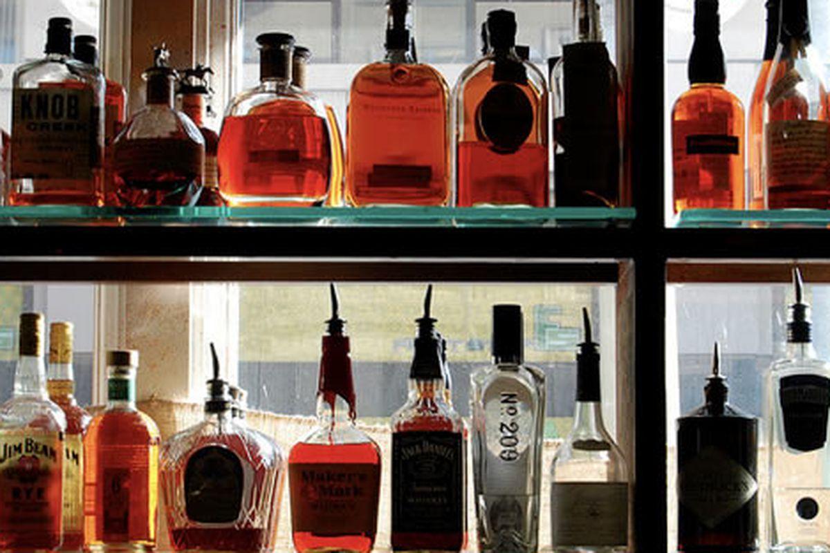 Whiskey and gin at Farmerbrown, San Francisco.