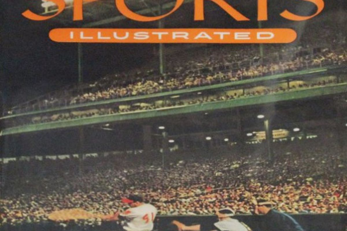 The first issue of Sports Illustrated, dated Aug. 16, 1954, with Hall of Famer Eddie Matthews on the cover.