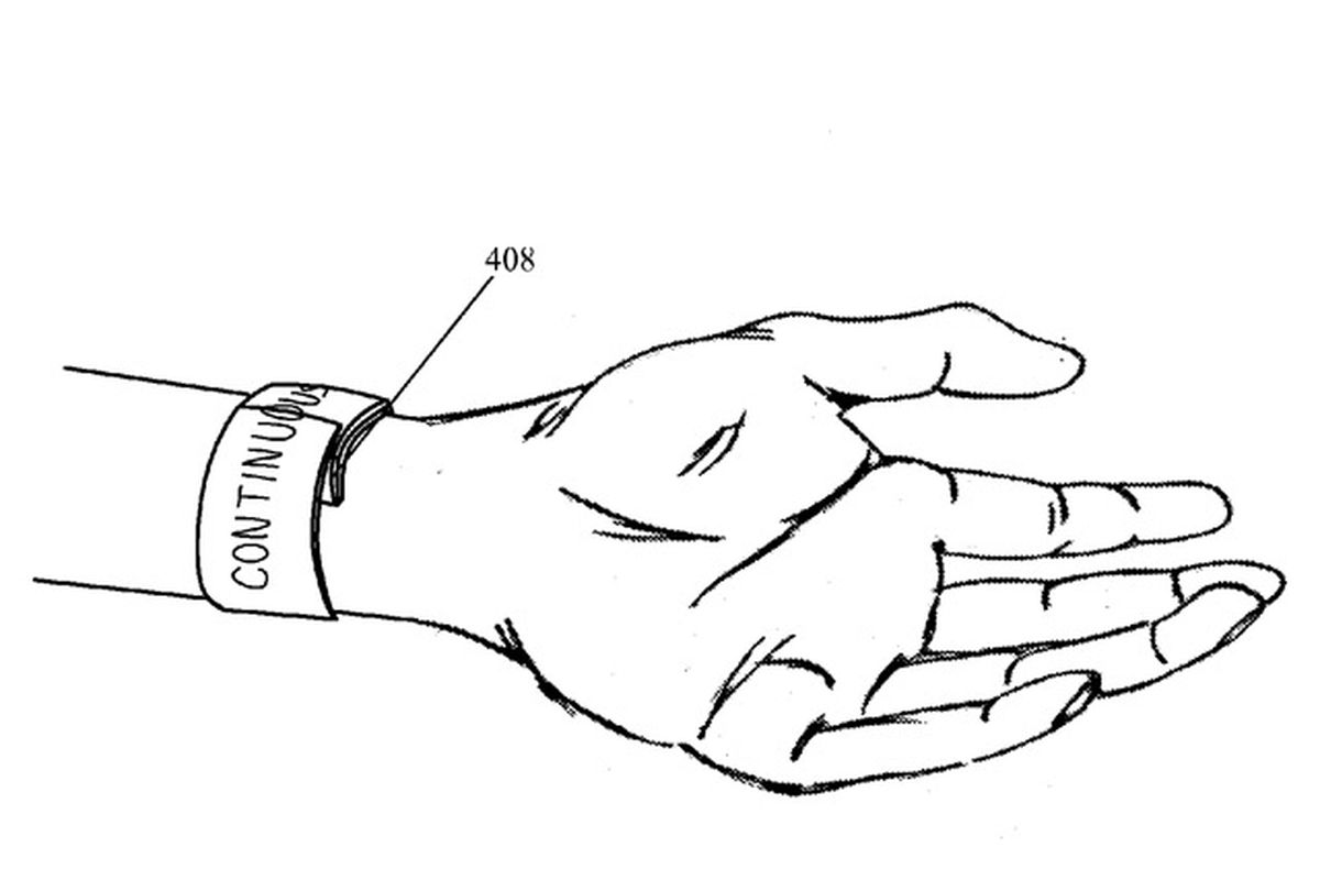 Apples wearable video device patent application looks like an apple wearable patent malvernweather Images