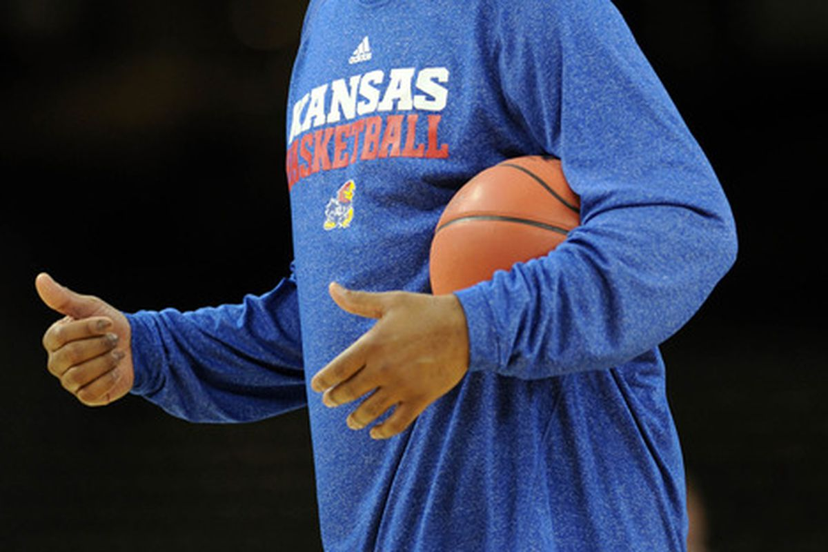 Mar 30, 2012; New Orleans, LA, USA; Kansas Jayhawks assistant coach Danny Manning during practice the day before the semifinals of the 2012 NCAA men's basketball Final Four at the Mercedes-Benz Superdome. Mandatory Credit: Bob Donnan-US PRESSWIRE