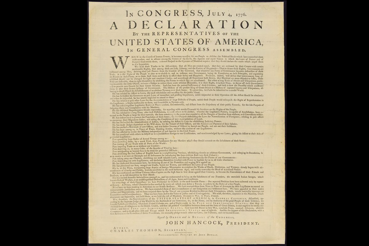 The Library of Congress's copy of the Dunlap broadside.