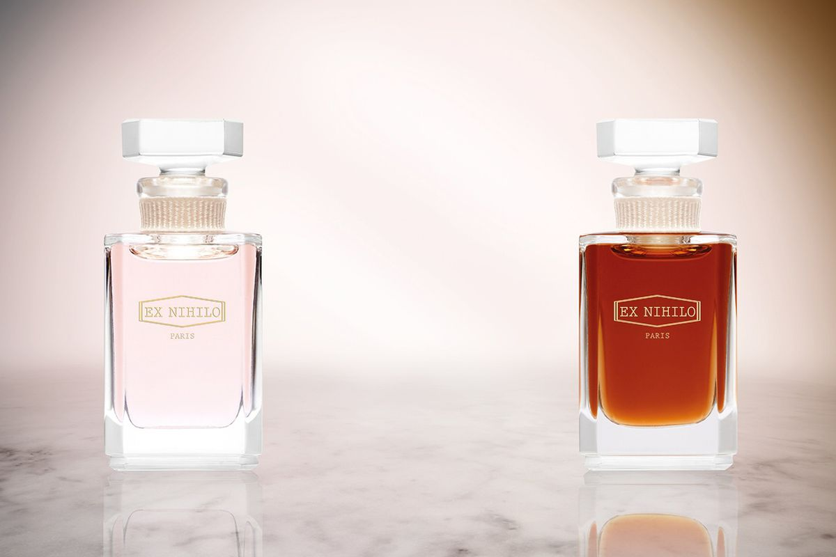 Two perfume bottles from the brand Ex Nihilio