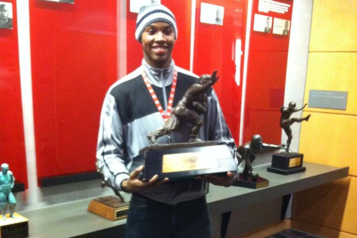 Lonnie Johnson on a visit to Ohio State.