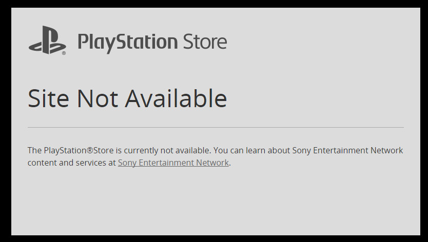 PlayStation Store website down 834