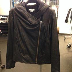 Leather Hoodie, $399