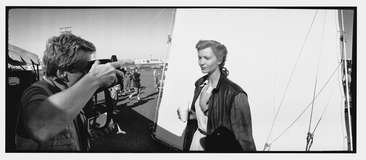 Joan Allen, who played Vera, in a behind-the-scenes photo taken by Jeff Bridges on set. | Photo provided by Jeff Bridges