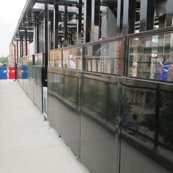 6:37 p.m. Another look at the walkway behind the new right-field patio -