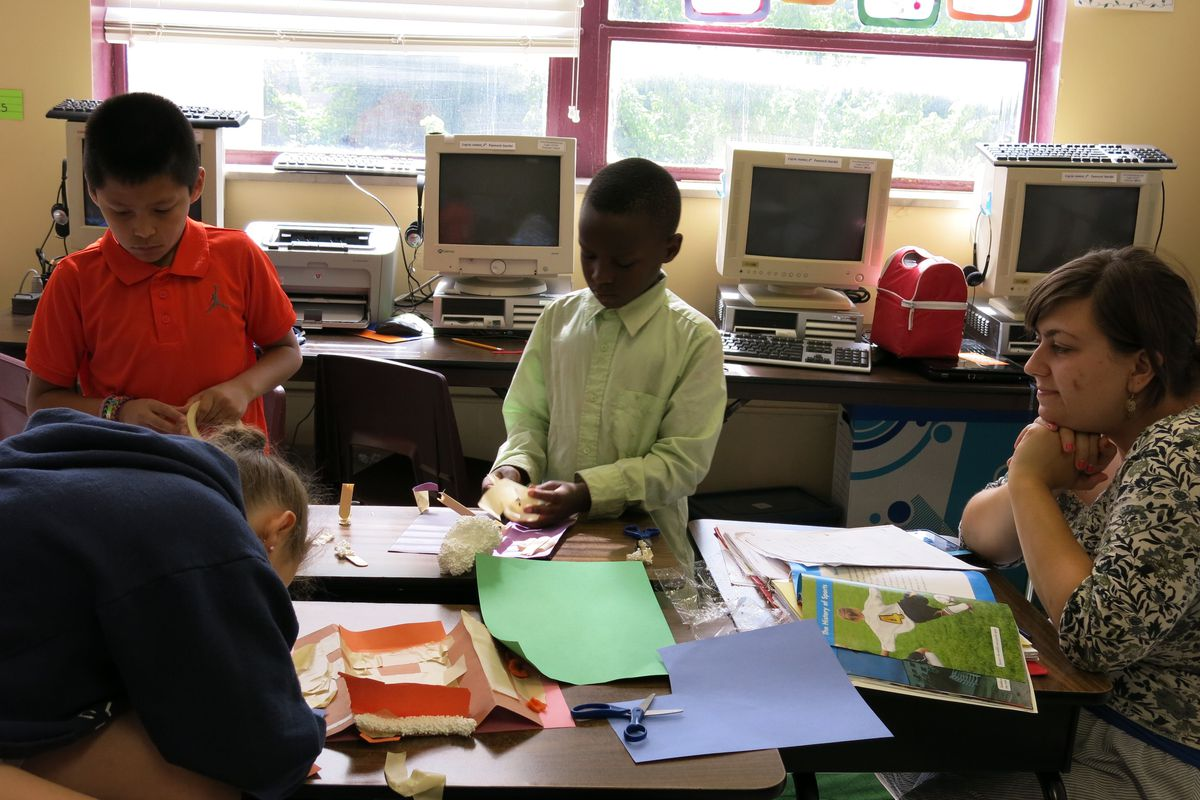 Students attend a summer program at De La Salle Elementary, a Catholic school in Memphis that has been open to accepting state-funded tuition vouchers.