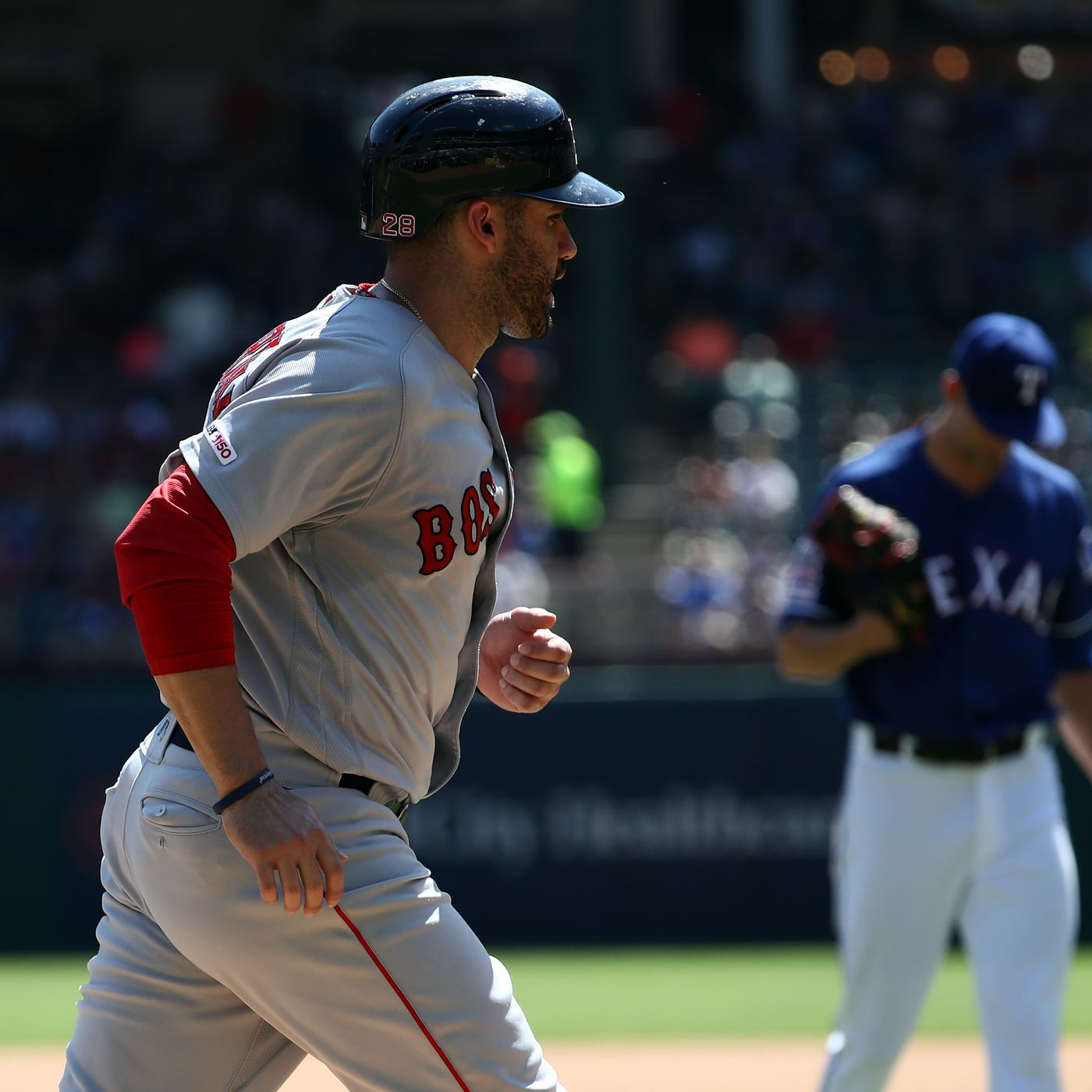 fake sox game 47 j.d. martinez leaves the yard twice over the