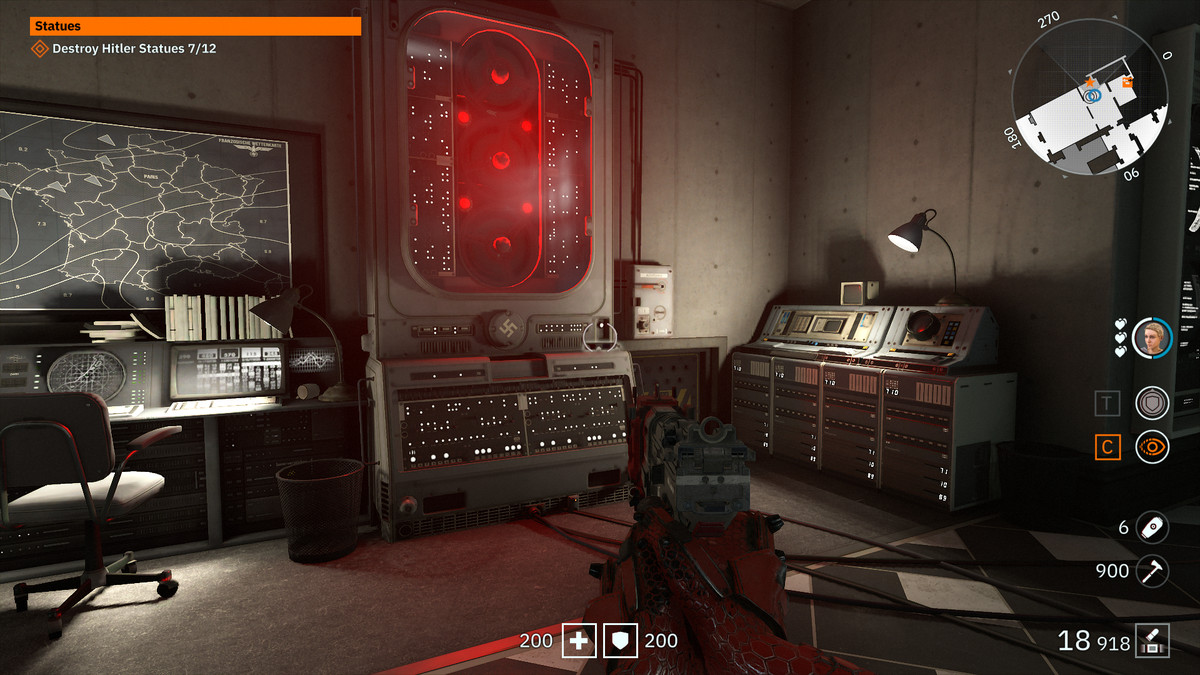 Wolfenstein: Youngblood 3D Glasses 51 collectible Monowheel