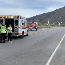 """A 22-year-old woman died after suffering """"extreme"""" head trauma when her SUV collided with a semitrailer near Spanish Fork Canyon on Monday, April 27, 2020."""