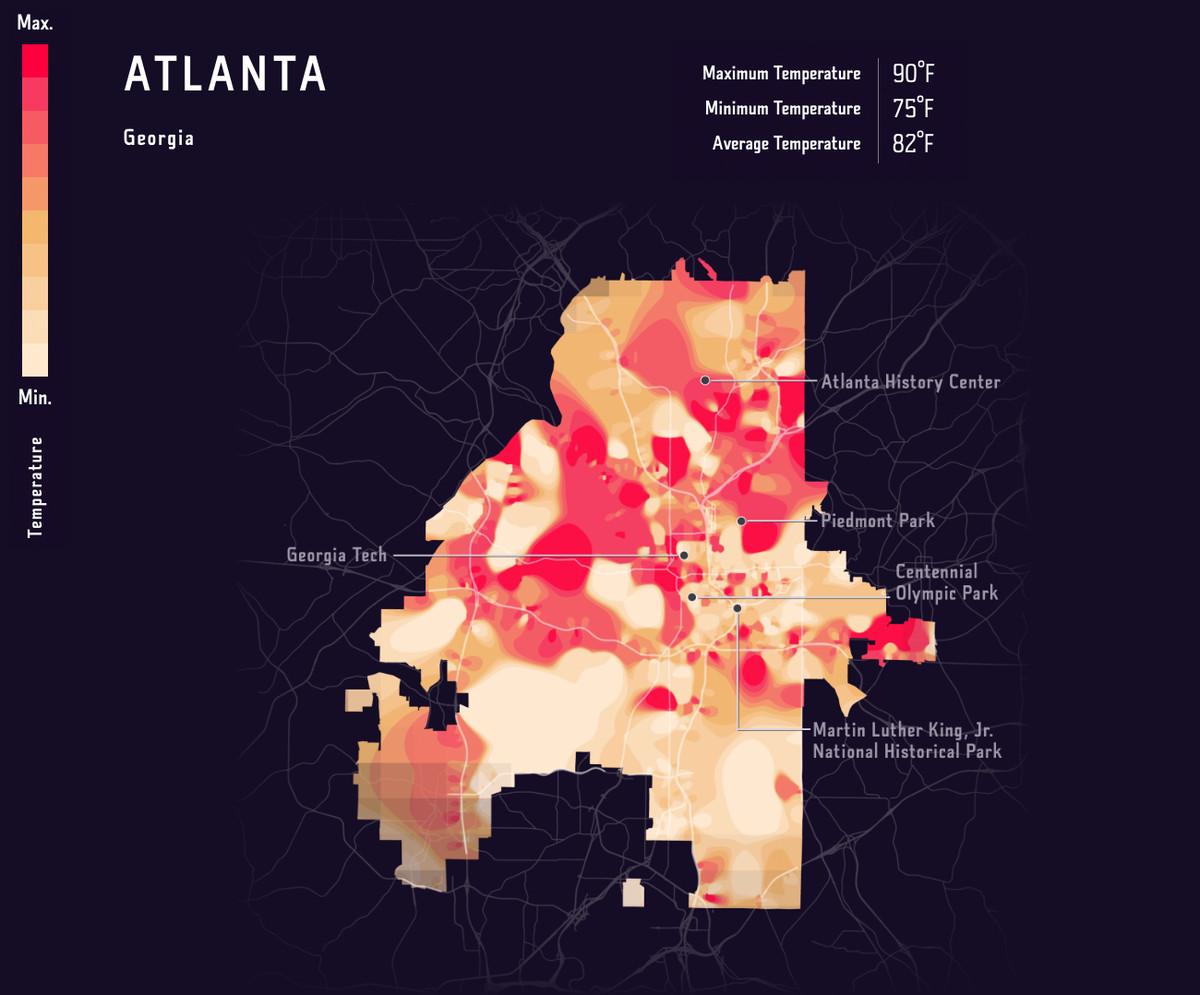 A heat map of Atlanta