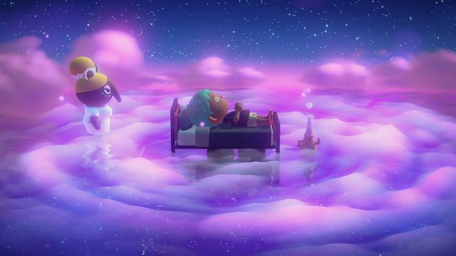 A dream in Animal Crossing: New Horizons.