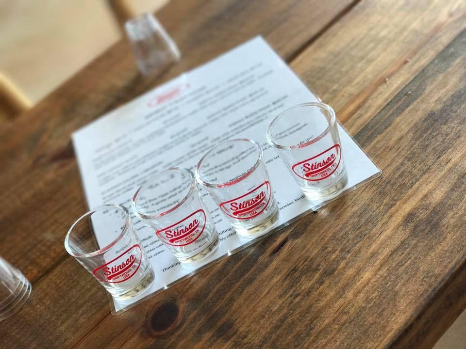 Stinson Distilling's shots
