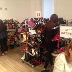 The sample shoe section