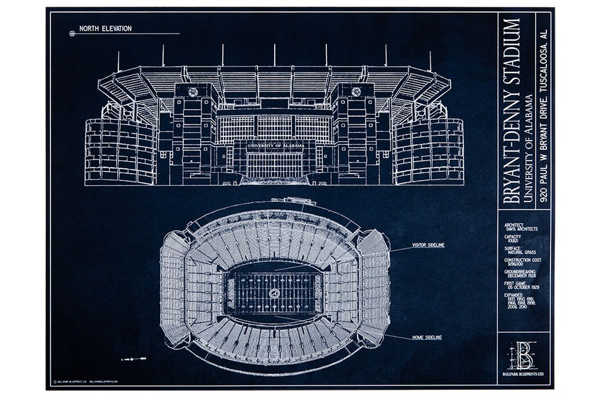 Beautiful bryant denny architectural blueprints now available and c ballpark blueprints ltd used with permission malvernweather Choice Image