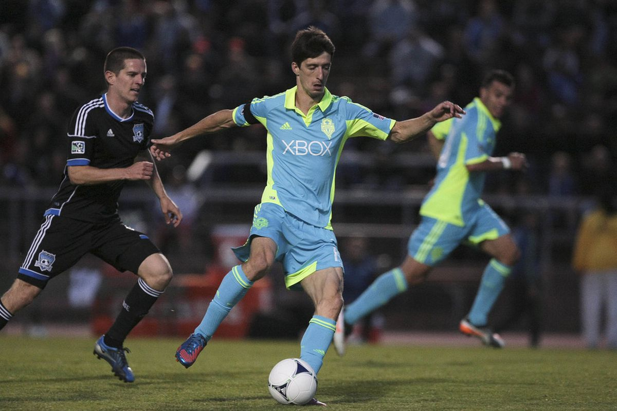 Alvaro Fernandez is one player that could be headed out of town if the Sounders decide to make significant changes.