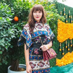 Natalie Suarez of Natalie Off Duty opts for a bold print.