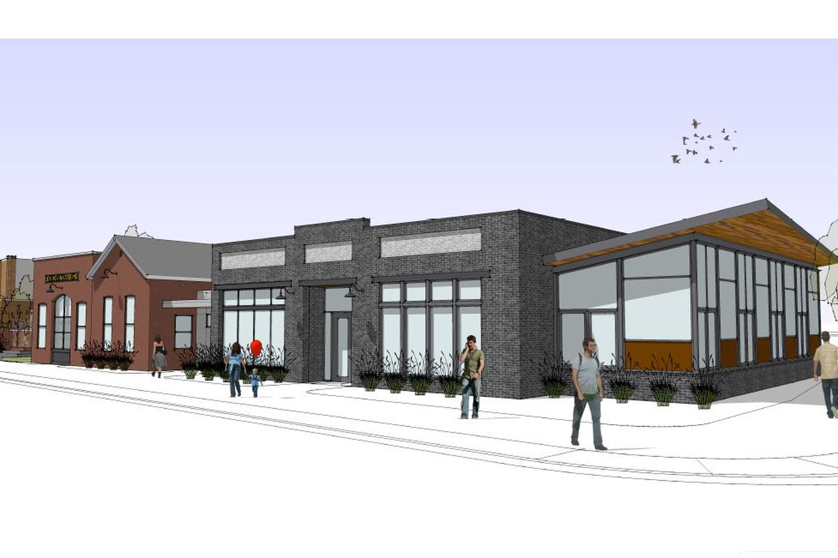 Rendering of the Geist property, showing new project Lulu in gray.