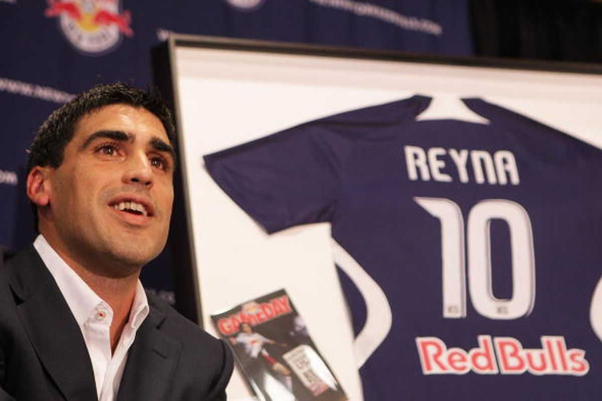 Former Virginia Cavalier Claudio Reyna, along with fellow former Hoo Tony Meola, have been elected to the Class of 2012 National Soccer Hall of Fame. Credit: Getty Images Sport / Mike Stobe