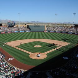 A full house at SRF, as Cactus League play commences