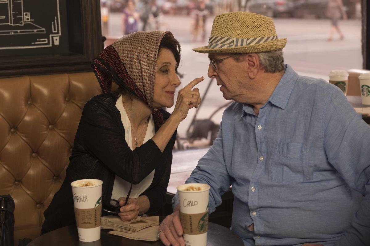 "Grandparents Franca (Andrea Martin) and Carlo (Danny Aiello) do some flirting of their own in ""Little Italy.""   LIONSGATE PREMIERE"