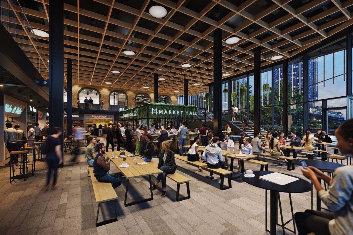 Market Halls' London food hall empire will expand to Canary Wharf's Crossrail Place