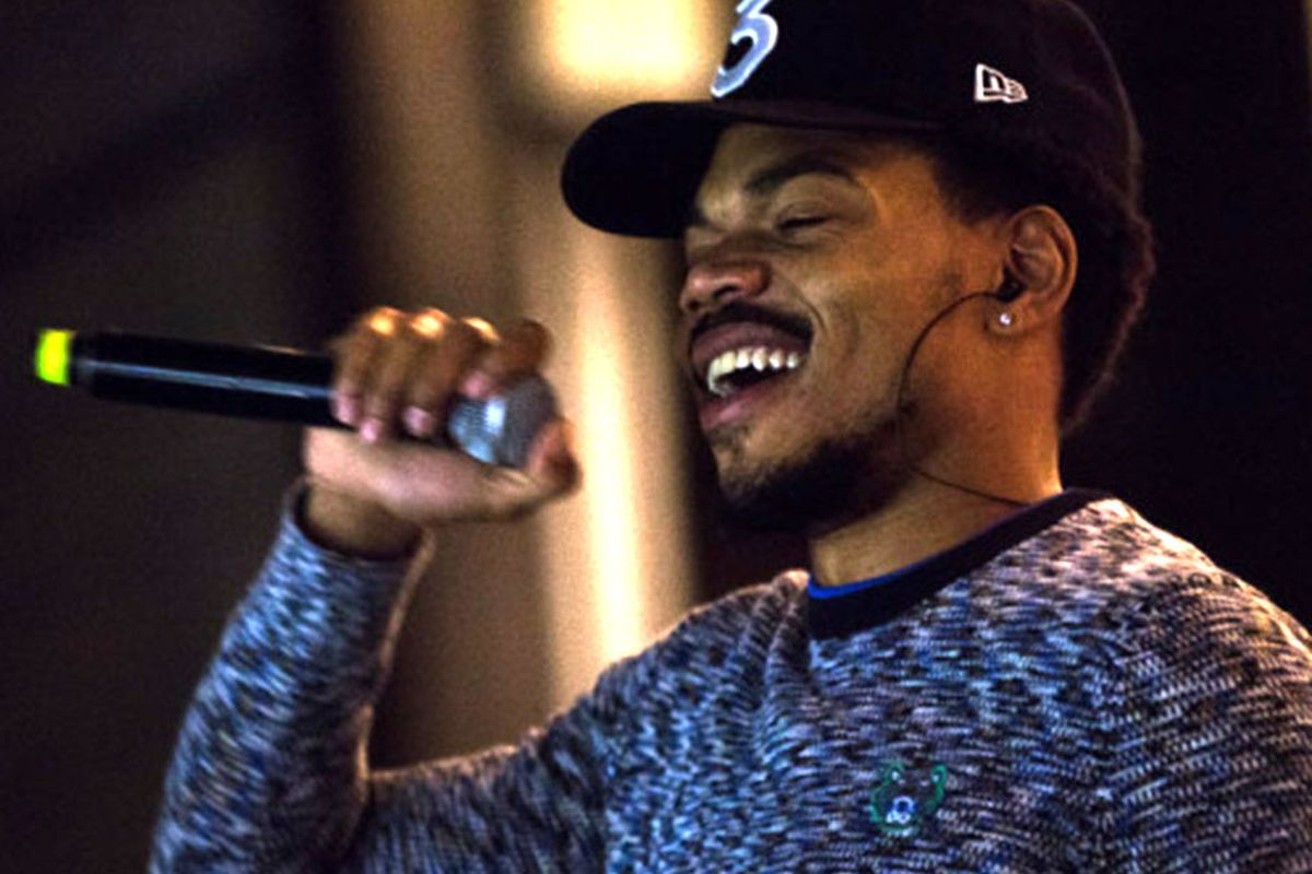 """Chance the Rapper performs at """"Chance the Rapper's Parade to the Polls"""" at Grant Park's Petrillo Music Shell in 2016."""