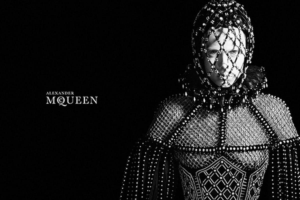 Alexander McQueen's fall ads, starring Edie Campbell. Via Alexander McQueen.