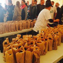 Mikkeller malt liquor in brown paper bags for Roy Choi