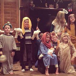 Carmen Herbert's boys participate in the family Nativity on Christmas Eve.