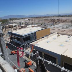Looking down on Downtown Summerlin, facing east.