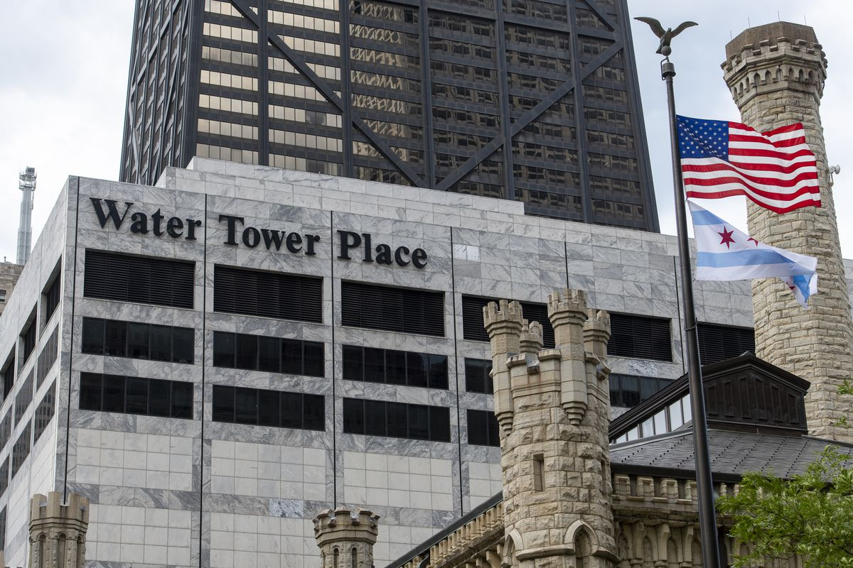 The exterior of Water Tower Place in Chicago