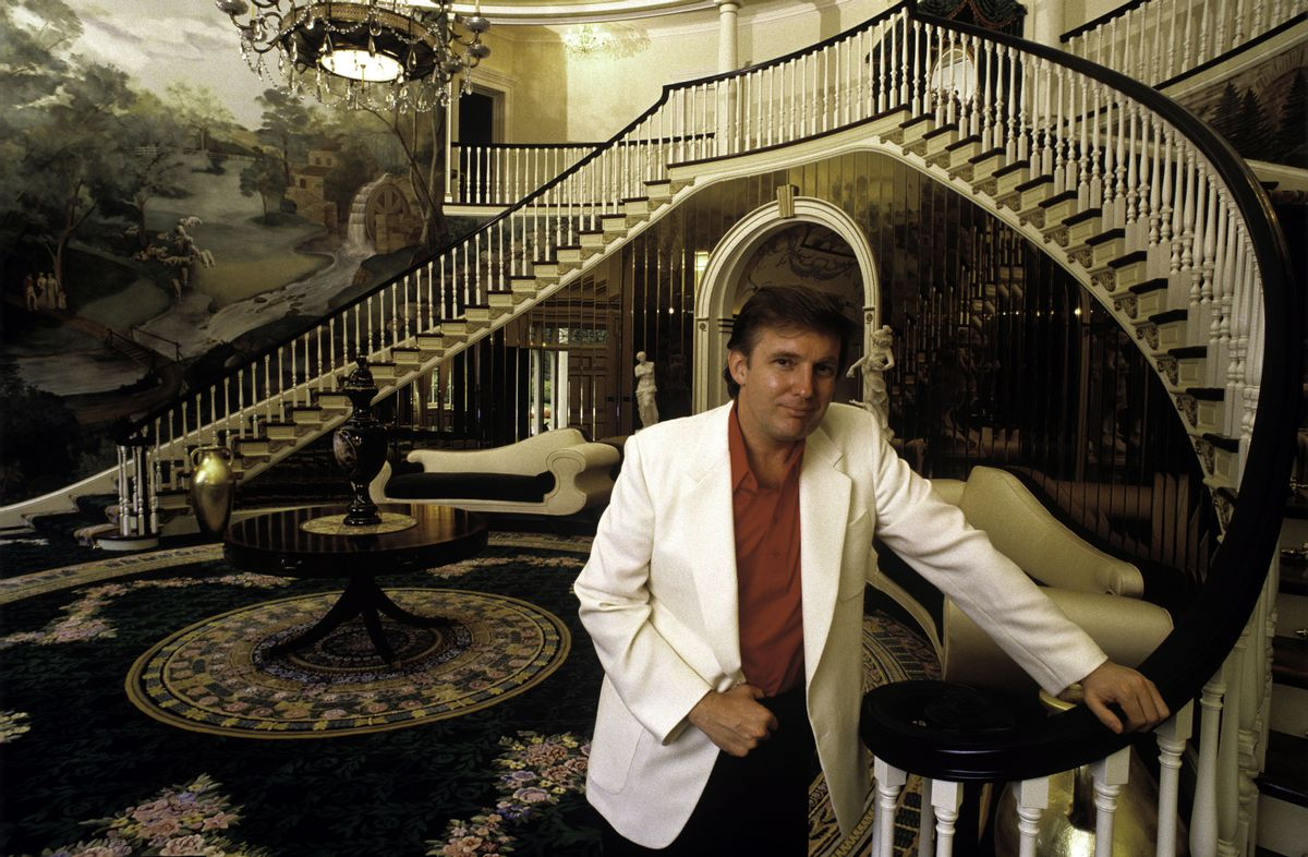 Donald Trump at home in Greenwich, Connecticut, 1987.