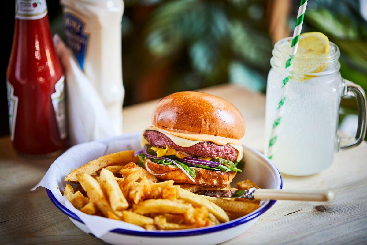A vegan burger at Honest Burgers