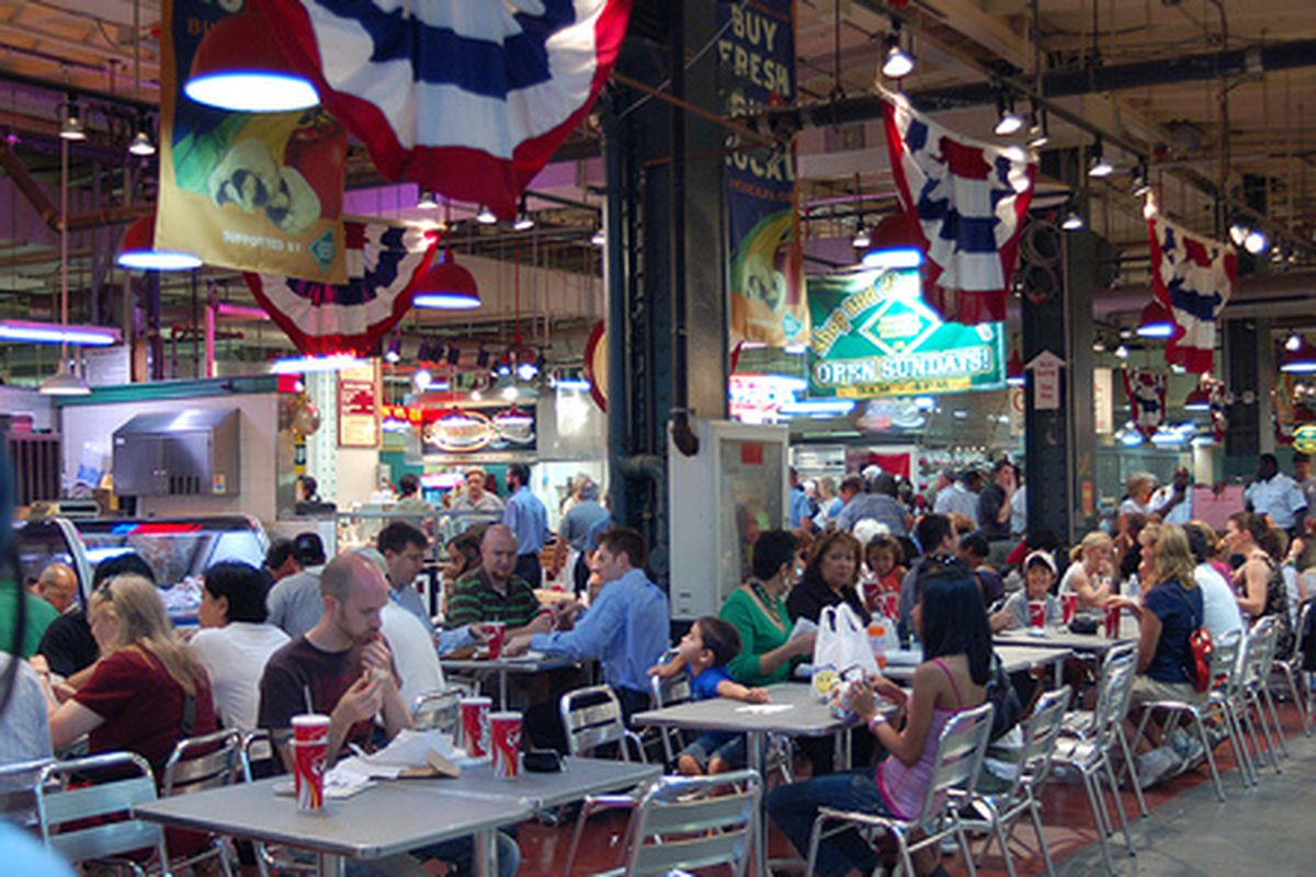 The Reading Terminal Market is back in business today.