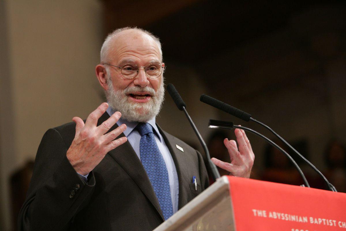 Dr. Oliver Sacks speaking in New York City in 2008.