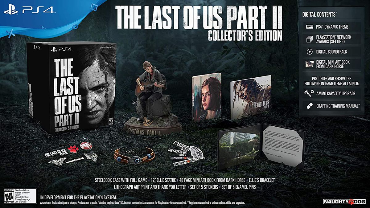 Components of The Last of Us Part 2 Collector's Edition