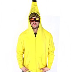 """Banana hoodie (unisex), <a href=""""http://patriciafield.com/collections/halloween-costumes/products/banana-hoodie"""">$58</a>"""