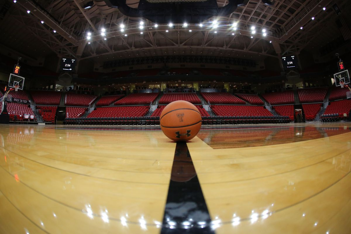 A general overview of the United Supermarkets Arena before the game between the Texas Tech Red Raiders and the Kansas Jayhawks.