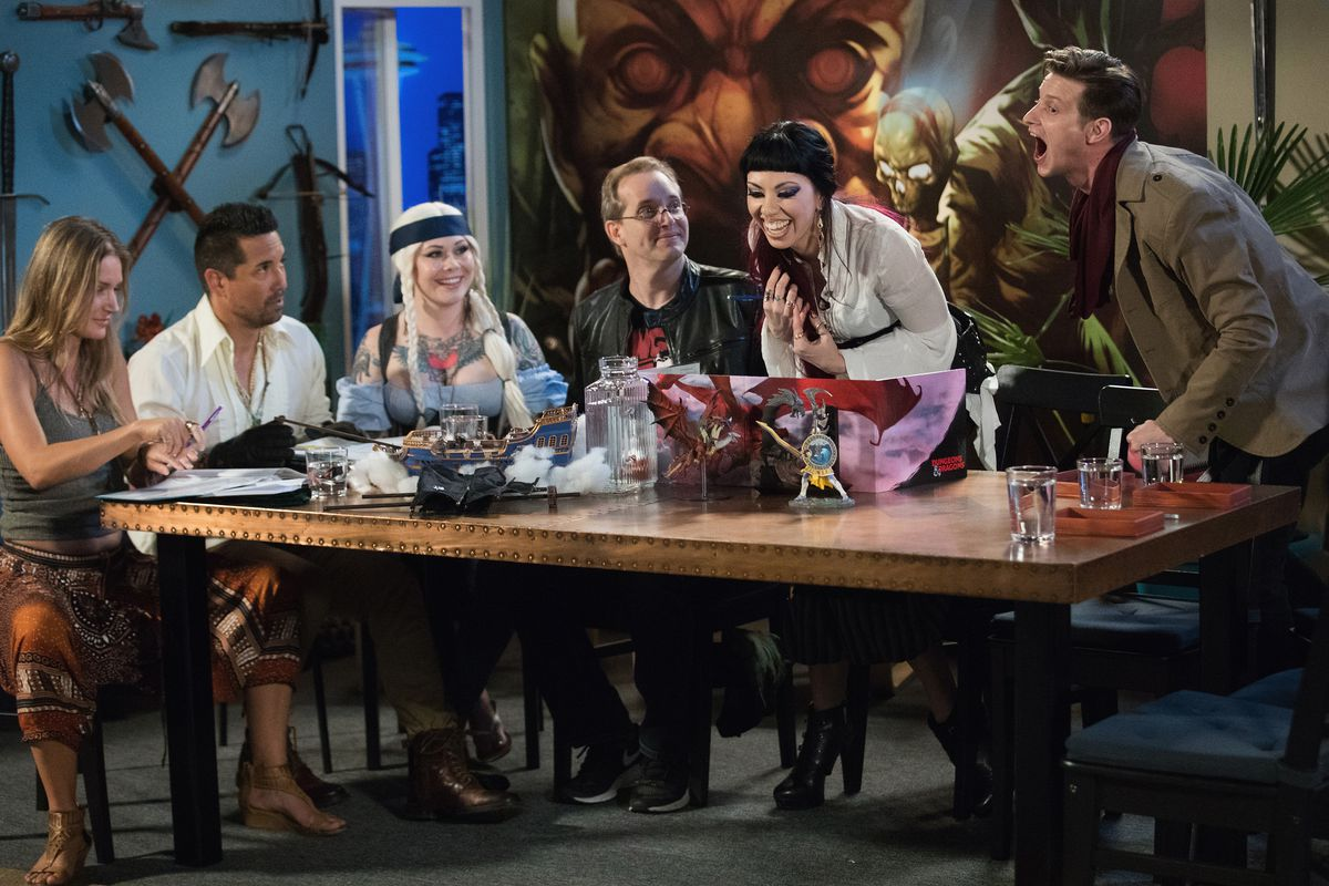 The Cast Of Maze Arcana Unveil A New Dd Storyline During A Live Streaming Event Mat Hayward Getty Images