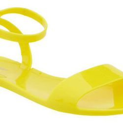 """<b>Old Navy</b> Jelly Sandals in High Voltage, <a href=""""http://oldnavy.gap.com/browse/product.do?pid=523806042&tid=onsp1r&kwid=1&ap=14"""">$12.94</a>"""