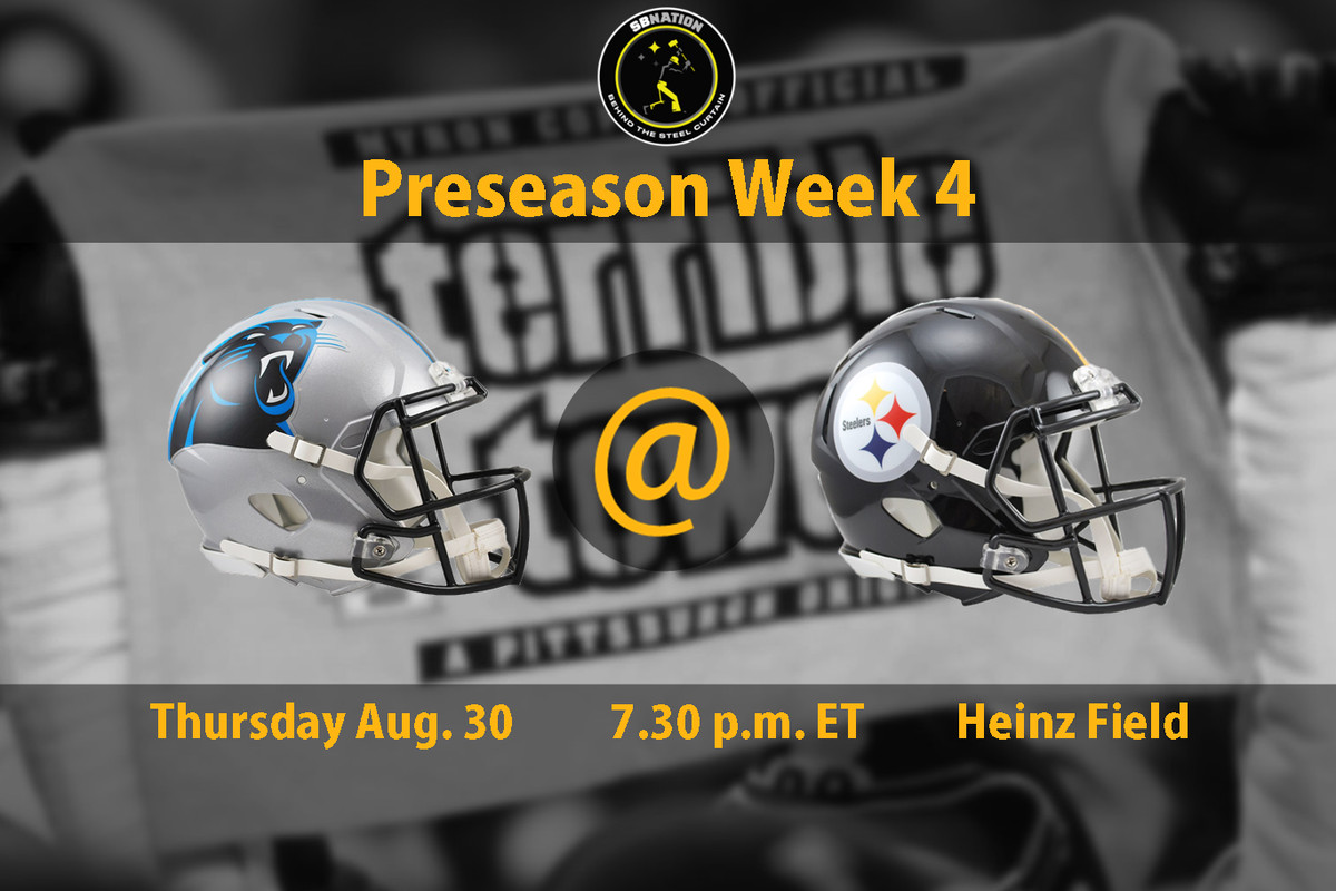 The Pittsburgh Steelers will face the Carolina Panthers for the 16th  consecutive year in the preseason on Thursday night and the matchup should  be an ... 219d7e8a5