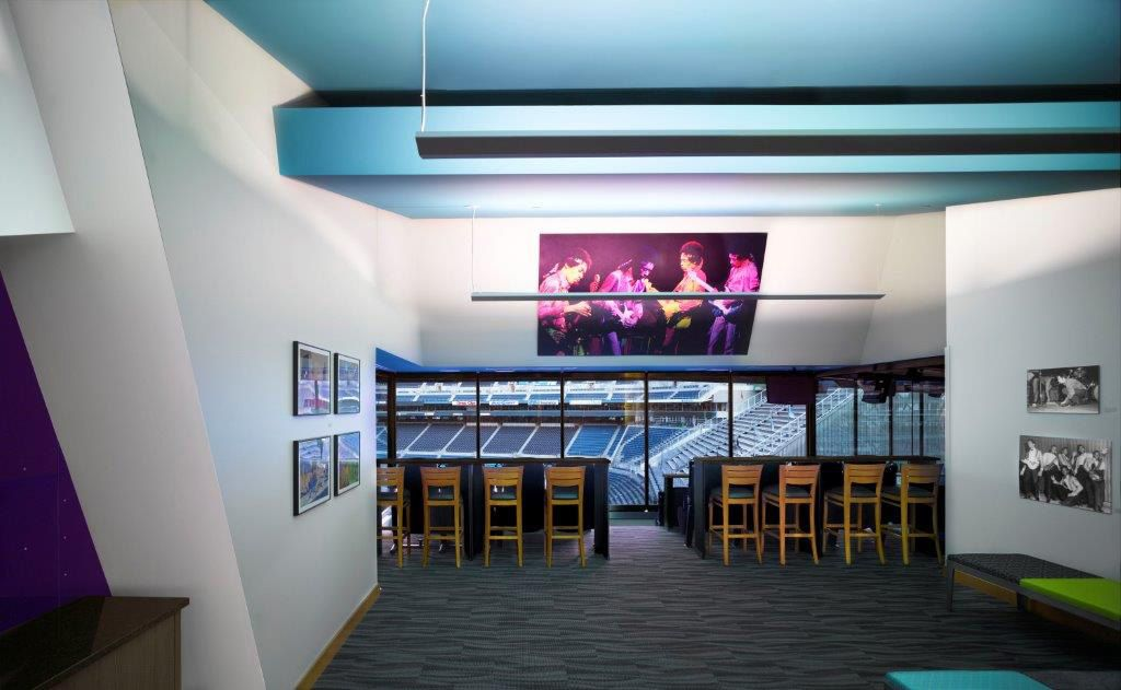 The MoPOP suite at CenturyLink Field.