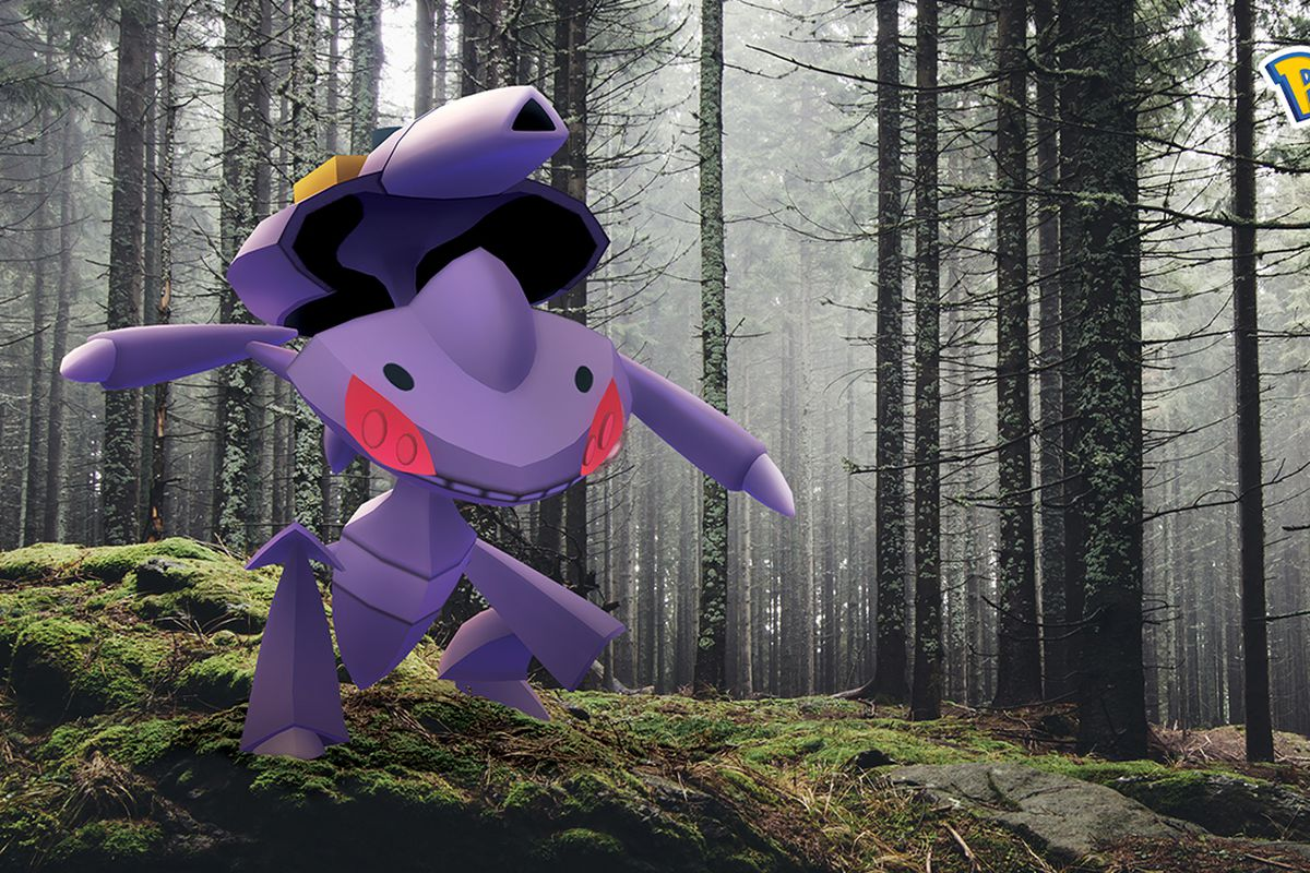 Pokemon Go Genesect in the woods
