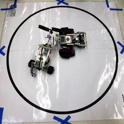 """Robots face off in a """"sumobot"""" competition as middle school students who have been involved in an after-school STEM program compete in West Jordan on Wednesday, May 27, 2015."""
